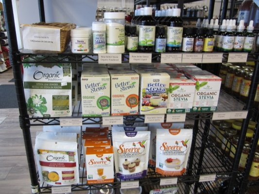 Natural sweeteners and sugar substitutes at Sigrid's