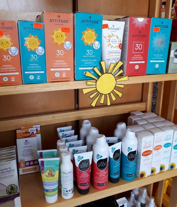 natural sunscreen in Kingston Ontario