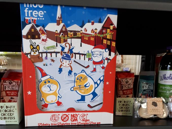 dairy free advent calendar in kingston
